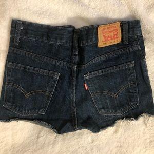 Levis 505 cut off shorts size 25/26